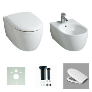 keramag wand wc 4u icon 203460 204060 sp lrandlos wc sitz softclose bidet ebay. Black Bedroom Furniture Sets. Home Design Ideas
