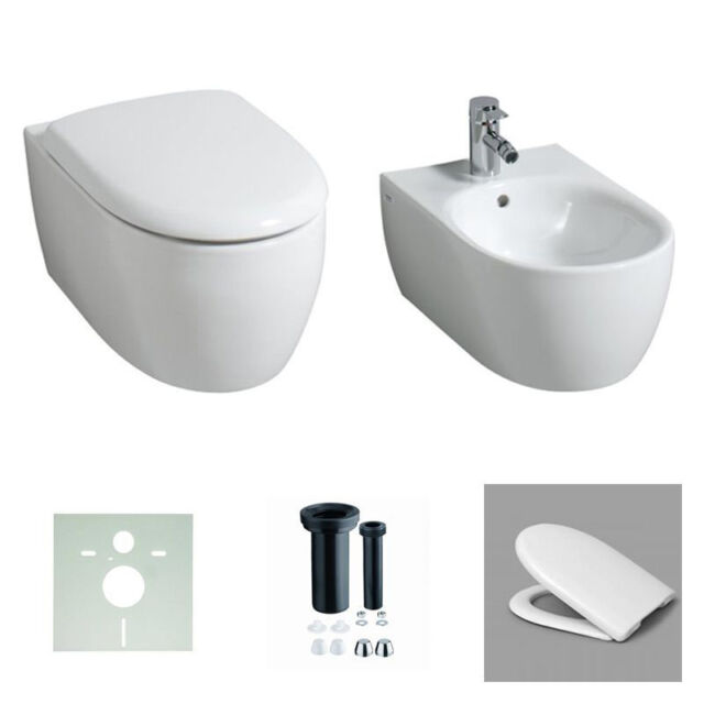 KERAMAG WAND-WC 4U/ ICON 203460 / 204060  SPÜLRANDLOS+WC-SITZ SOFTCLOSE /BIDET