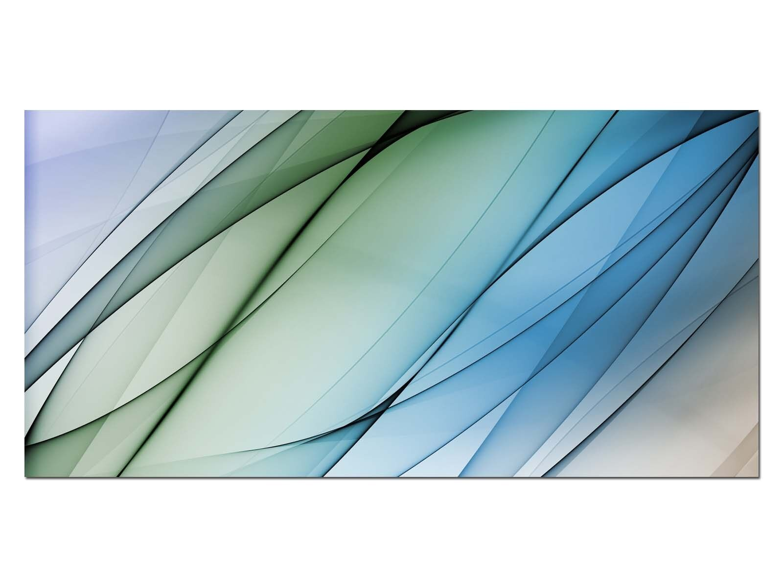 Deco Glass Picture EG4100500764 STRIPES DESIGN Blau Größe 39,37  x 19,68  HD Prin