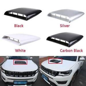 NATGIC Car Air Flow Vent Cover Universal Car Decorative Air Flow Intake Hood Scoop Bonnet Vent Sticker Cover Hood White
