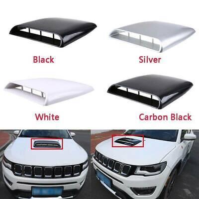 Universal Car Decorative Cover Hood Air Flow Intake Scoop Bonnet Vent Sticker Air Flow Cover White