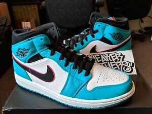 77e4f2a498b17 Nike Air Jordan Retro I 1 Mid SE South Beach Turbo Green Hyper Pink ...