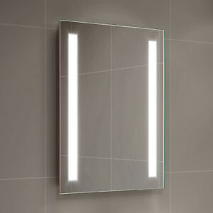 Bon Image Is Loading Battery Operated LED Mirror Illuminated Rectangular  Bathroom Light