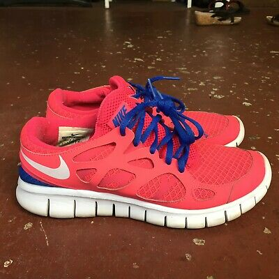 White Pink Blue Women Running Shoe Size