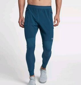 3182f8b3a02e6 Image is loading Nike-Flex-Utility-Running-Tights-Pants-Blue-Force-