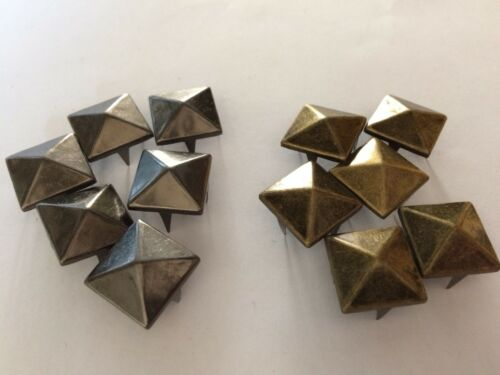 John Lewis PRONG PRESS STUDS PYRAMID SQUARE 7mm 15mm 4 colours
