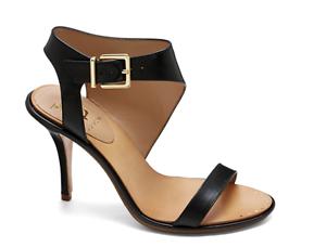 Vince Camuto Signature Women's Black Leather Pikora Heels 8711 Sz 6.5 6.5 Sz M f45eb0
