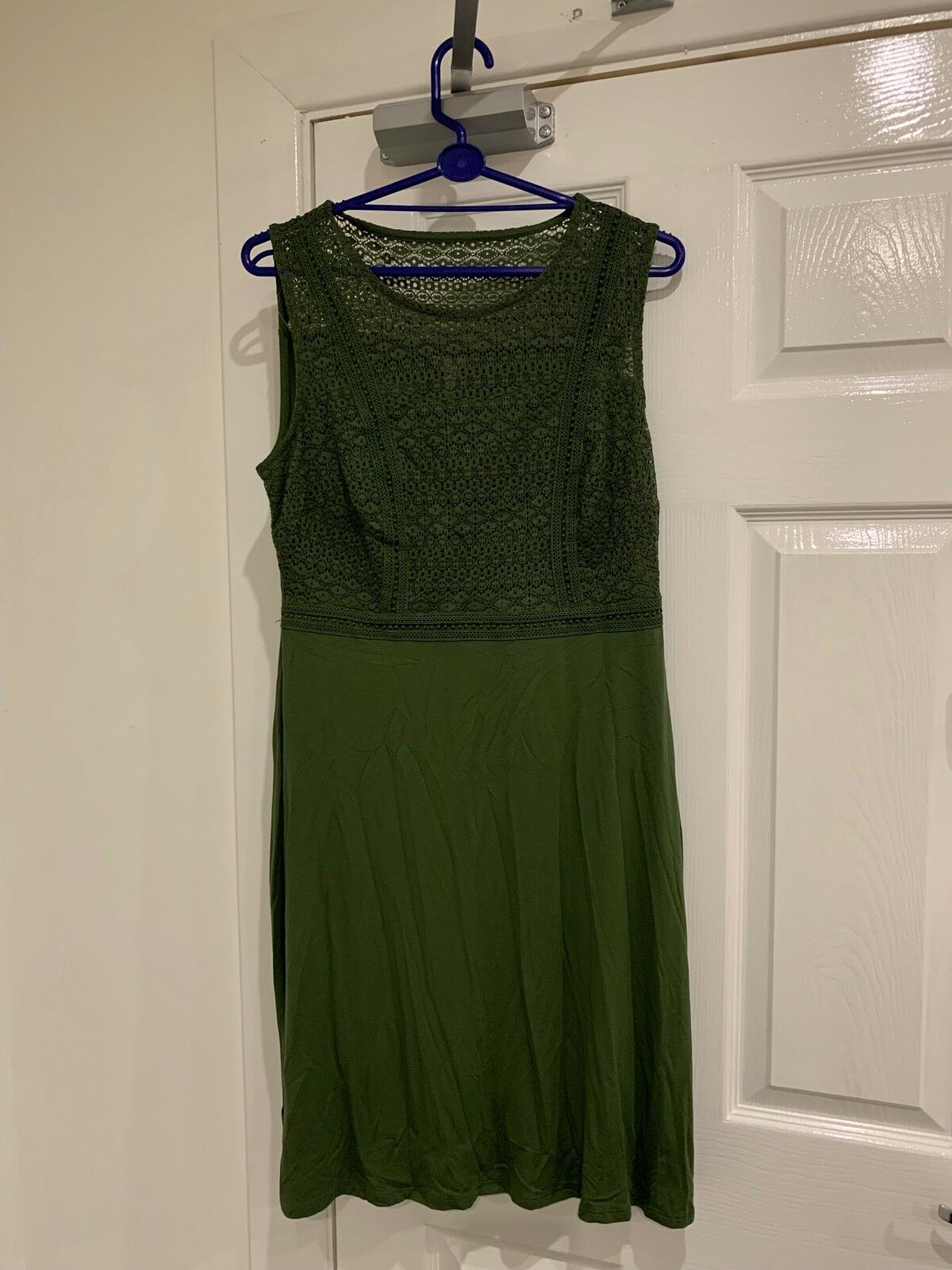 Bravissimo Really   Super Curvy Womens Khaki Lace Bodice Sun Dress - Size 8