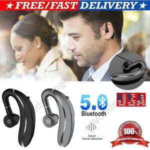 Bluetooth Earpiece Wireless Headset 180 Rotating Headphones For Ios Samsung Ebay