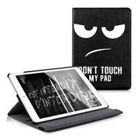kwmobile 360° Schutz Hülle für Apple iPad Air 2 Don't touch my Pad Kunstleder