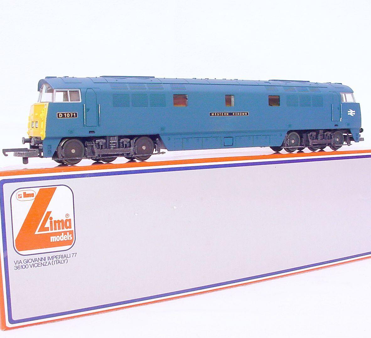 Lima HO OO British Railways WESTERN Class 52  RENOWN  DIESEL LOCOMOTIVE MIB`80