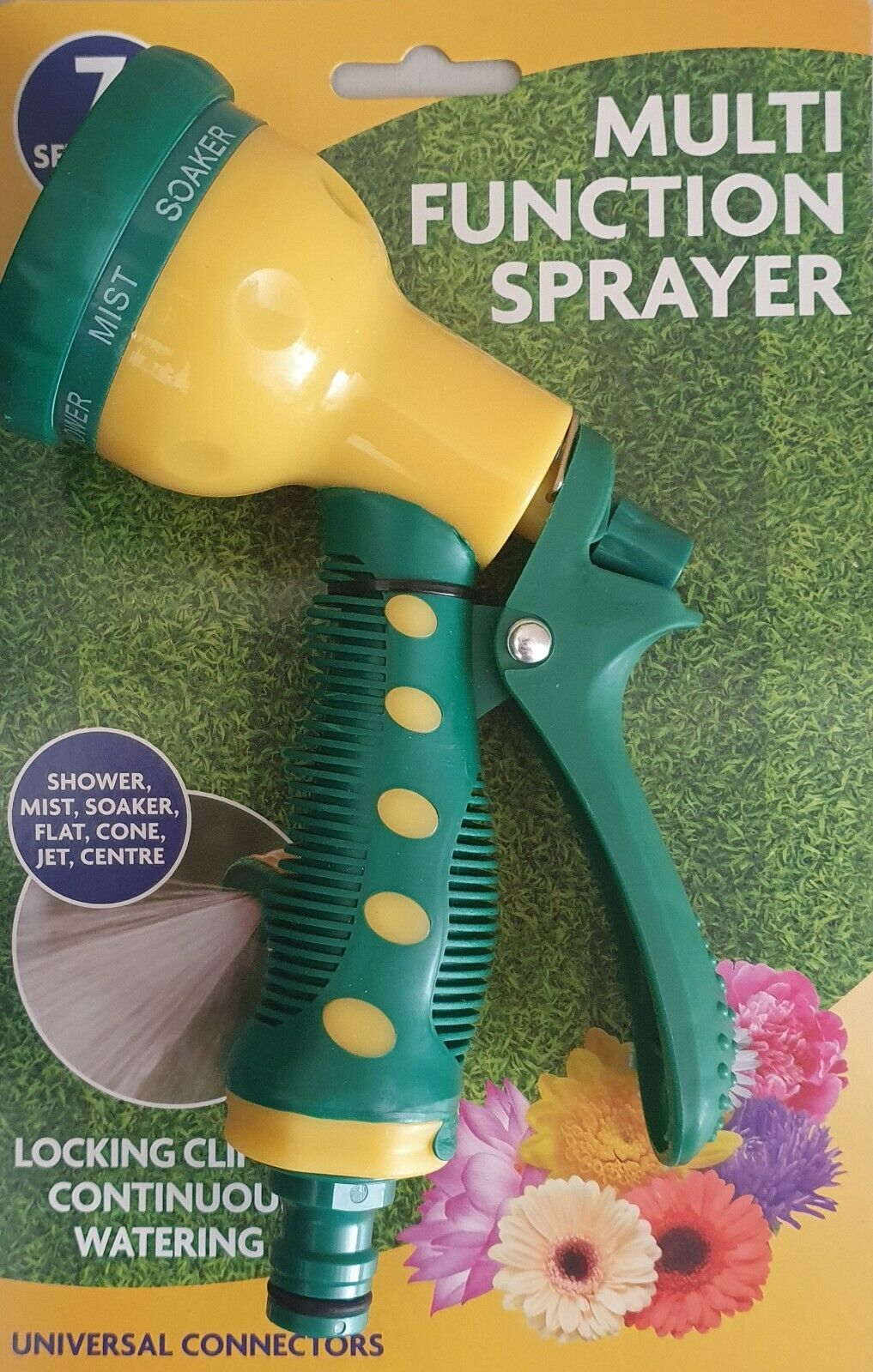 7 Pattern Hose Spray Gun Suitable for all Garden hose connections Garden Hose