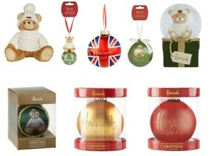 Harrods Christmas Baubles 2020 Harrods Christmas Logo Bauble Tree Decorations Joshua Annual Bear