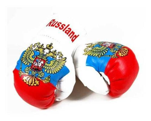 Mini Boxhandschuhe Russland Russia Autospiegel Kunstleder Handschuhe Anhänger