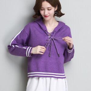 Doux Pur Pourpre Court Comfy Maillot Warm Femme Sweater 4720 Maillot 4awxw8RqPA