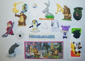 SERIE-COMPLETA-MASHA-AND-THE-BEAR-6-EN533-EN571-8-BPZ-KINDER-ITALIA-2019