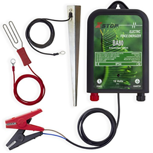 Xstop X-Stop BA80 12v Battery Powered Electric Fence Energiser Plus Leads and CE