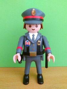 PLAYMOBIL-POLICIA-ARMADA-GRISES-CUSTOM-SPAIN-NATIONAL-POLICE-GREY-UNIFORM-POLICE