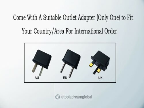 Global AC Adapter Charger For POWERPAX REGULATED Switching Power Supply Series