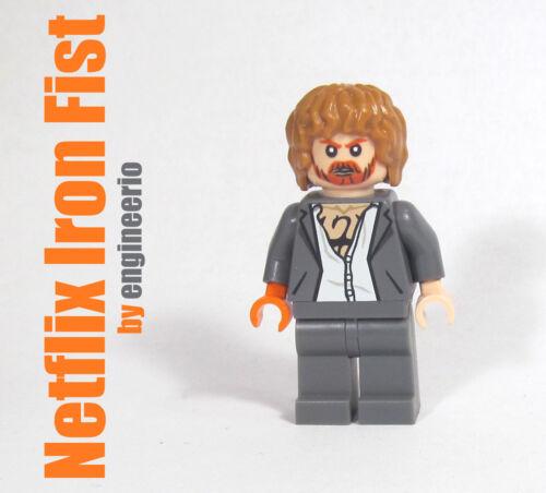 LEGO Custom Marvel Super heroes mini figure 6873 Iron Fist Netflix MCU