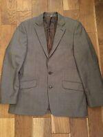 Jeff Banks Stvdio Men's Grey 100% Wool Blazer Jacket Size 38'' Chest Short