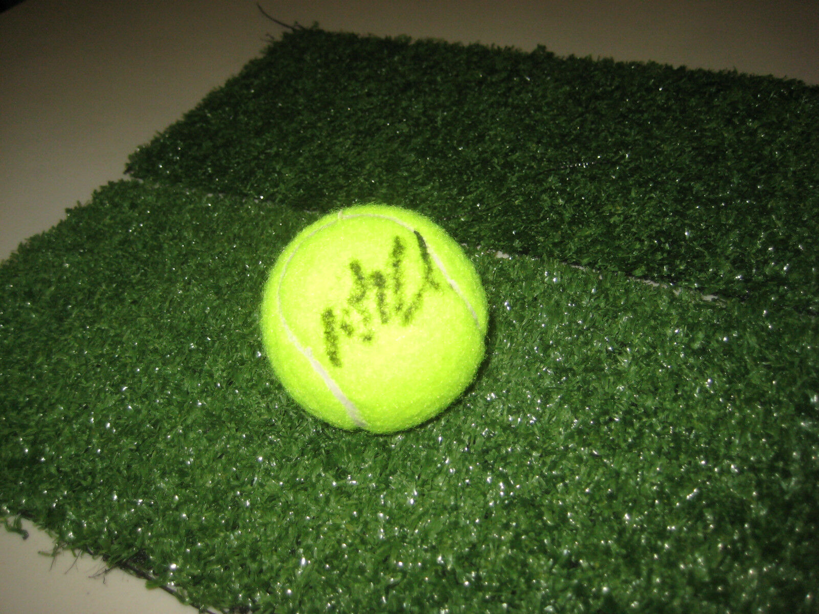 AGNIESZKA RADWANSKA HAND SIGNED TENNIS BALL UNFRAMED + PHOTO PROOF + C.O.A