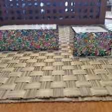 Glitter Confetti Card Holder Amp Ring Dish Set