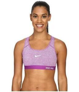 NIKE Women's Pro Classic Padded Bra Cosmic Purple Racerback Size XL Sports FA