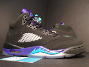 detailed look 57e6a 1de2e Image is loading Nike-Air-Jordan-V-5-Retro-GS-BLACK-