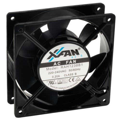 X-fan x-fan Assiale Ventilatore di raffreddamento 120 x 120 x 38mm cuscinetto a sfera 230V AC RETE