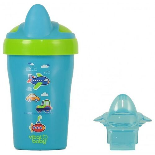 12M+ 6M+ VITAL BABY TODDLER TRAINER CUP SOFT SPOUT BPA FREE 4M+