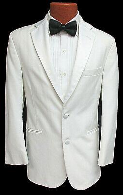 Men's White Lord West Tuxedo Jacket Satin Lapels Wedding Cruise Prom Mason  38S | eBay