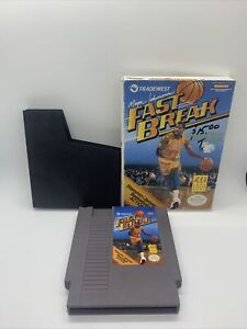 MAGIC JOHNSON'S FAST BREAK - NINTENDO NES GAME (GAME AND BOX. NO MANUAL)