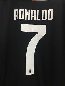 Adidas Juventus Home Jersey 2019/20 Black White Pink RONALDO # 7 ...