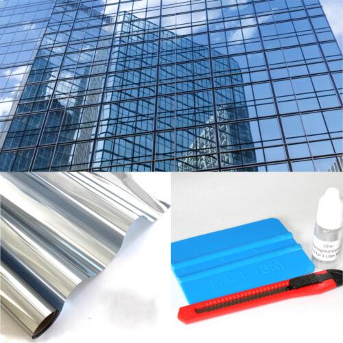 11,48€//m² Spiegelfolie Spionfolie Sichtschutzfolie 2m x 0,91m  UV Sonnenschutz