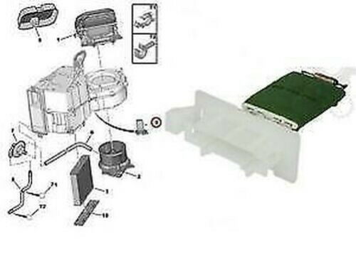 Mini One 04-07 Mini One D 03-06 Cooper 01-07 Gebläse Motor Heizung Widerstand