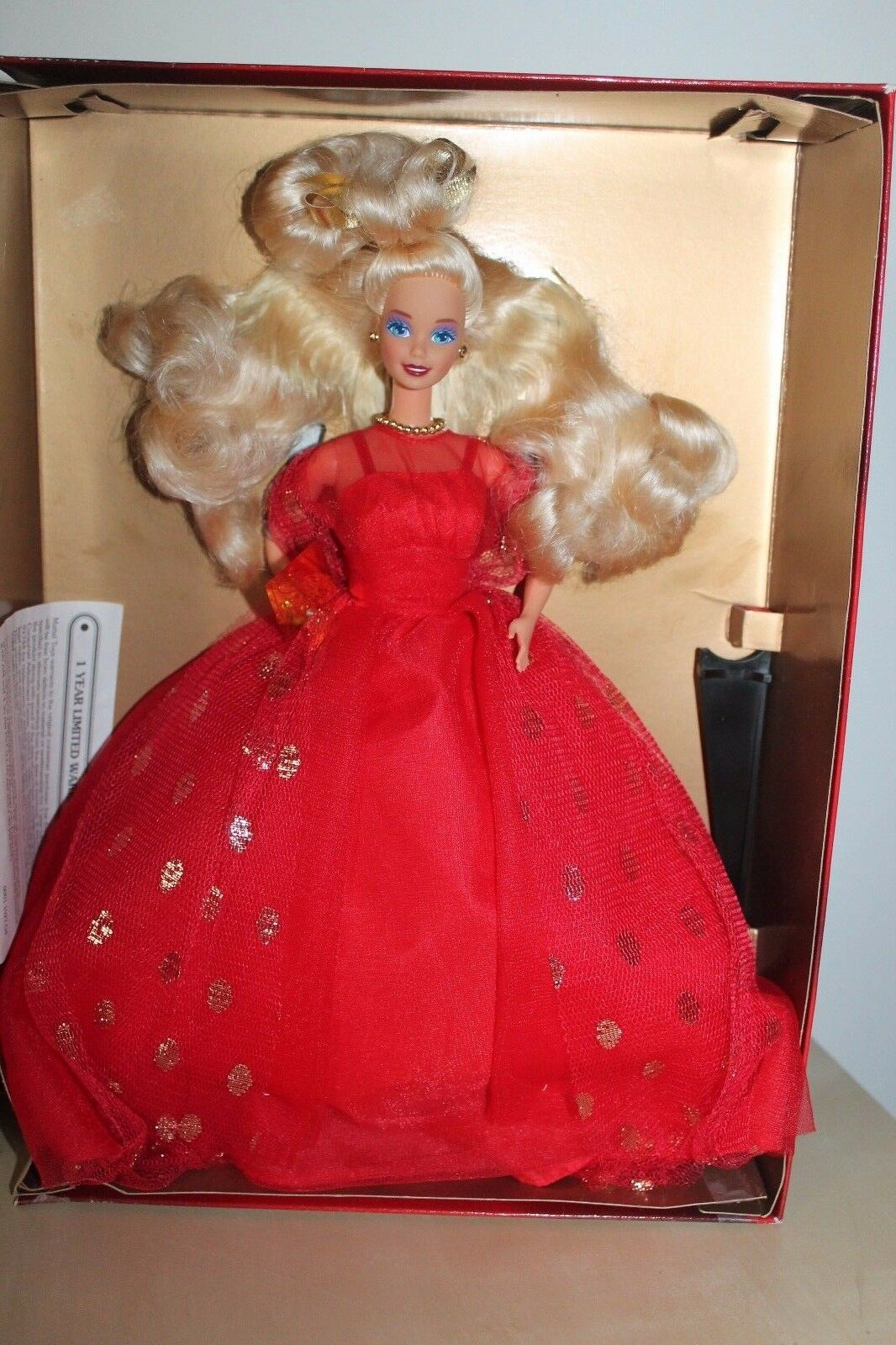Barbie Evening Flame ROT Gown Dress Special Limited Edition Mattel 1995 NRFB