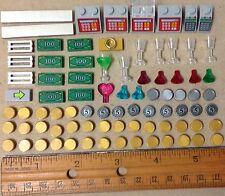 Lego coins money gold silver jewels cash register safe lock ring tile minifigure