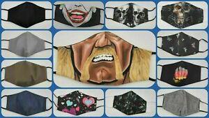 Mund Nasen Maske 3D Motiv modisch lustig Stoffmaske waschbar neu Erwachsene Uni