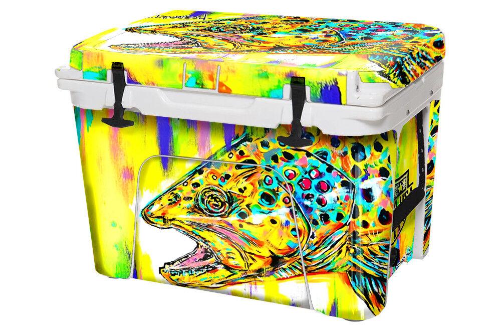 USATuff Custom Cooler Wrap fits YETI Tundra 50qt FULL Danforth Braun Trout