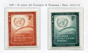 19022-UNITED-NATIONS-New-York-1957-MNH-Nuovi-Security-Council