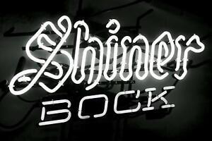 Image is loading New-Shiner-Bock-Texas-Neon-Sign-Beer-Bar-