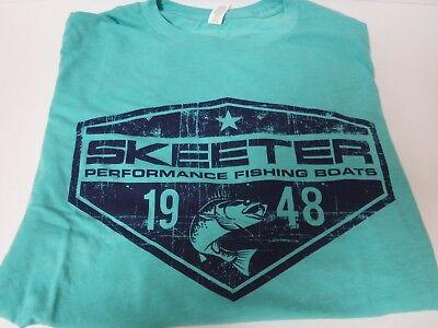 New Skeeter Tri-Blend Short Sleeve T Shirt  Sea Foam Green   Large