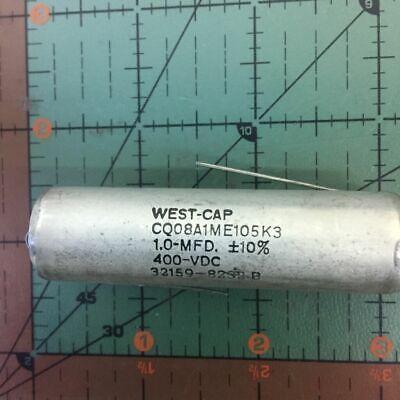 West Cap Axial Film Capacitor .1uf 400v cp05a1ke104k3 Audio 0.1uf PIO Retro