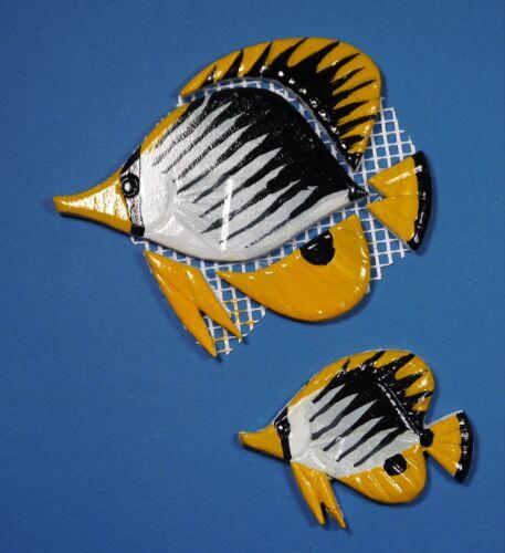 Mosaiksteine-Korallenfisch-Falterfisch-Fisch-gelb//schwarz-in 2 verschied.Grössen