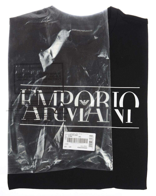 69097eb9 ... T shirt Maglietta Emporio Armani Sweatshirt Cotone Cotone Cotone Uomo  Nero 3Z1T861J0AZ 999 ba11bc ...