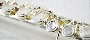 Cupronickel-16-Holes-Silver-Professional-Musical-instrument-C-Tone-Flute