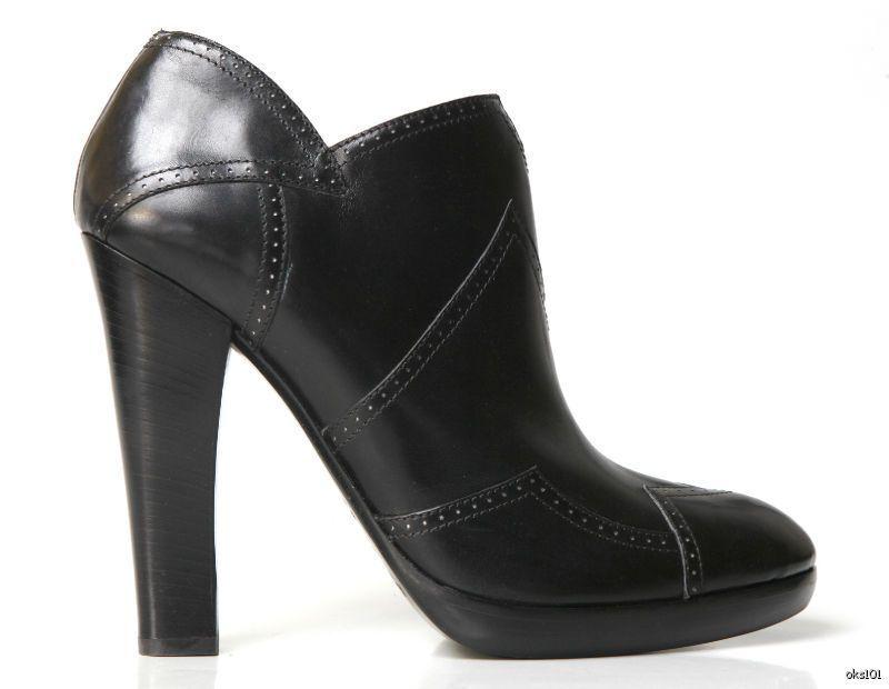 Nuevo  1630 Alaia Alaia Alaia Negro Cuero Zigzag Plataformas botas Hasta el Tobillo Zapatos 38 US 8-caliente  Felices compras