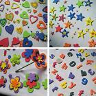 Pack de Corazones, Estrellas, Flores, y 666 Letras de goma EVA 2mm espesor