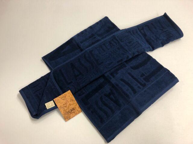1classe alviero martini 1 classe set 1+1 asciugamano e ospite logos blu puro cotone